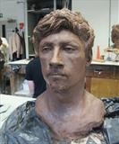 Ben by Bridget Rust, Sculpture, Clay