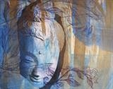 Buddha by Bridget Rust, Artist Print, Etching, drypoint and chine colle