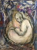Cocoon by Bridget Rust, Painting, Mixed Media