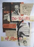 Do Re Mi by Bridget Rust, Painting, Collage