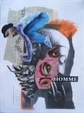 Homme by Bridget Rust, Painting, Collage
