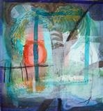 Indian Memory by Bridget Rust, Painting, Mixed Media on paper