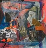 Magic was of no avail by Bridget Rust, Painting, Mixed Media on paper