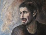 Portrait of Ivan by Bridget Rust, Painting, Oil on Board