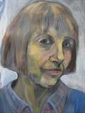 Portrait of Jessica - detail by Bridget Rust, Painting, Oil on Paper