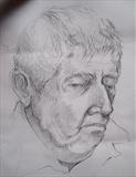 Portrait of John by Bridget Rust, Drawing, Pencil on paper