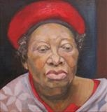 Portrait of Loretta by Bridget Rust, Painting, Oil on canvas