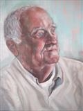Portrait of Patrick by Bridget Rust, Painting, Oil on Board