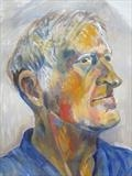 Portrait of Peter by Bridget Rust, Painting, Oil on Paper