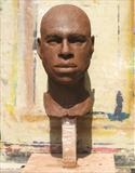 Portrait of Roy by Bridget Rust, Sculpture, Sculpture in Clay