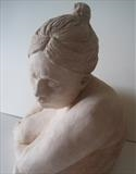 Portrait of Sarah by Bridget Rust, Sculpture, Fired Clay